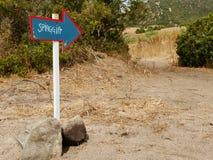 Freccia-spiaggia Pfeil Stockfoto