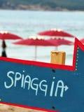 Freccia-spiaggia Pfeil Stockfotografie