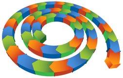 Freccia a spirale isometrica Fotografie Stock Libere da Diritti