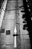 Freccia su pavimentazione Fotografia Stock