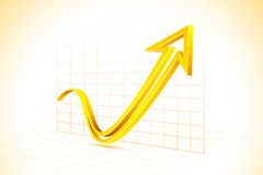 Freccia sul grafico Fotografia Stock