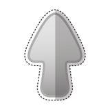 freccia sull'icona del gioco Fotografie Stock
