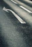 Freccia sulla strada Fotografia Stock Libera da Diritti