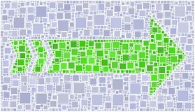 Freccia verde Immagini Stock Libere da Diritti