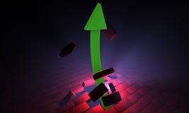 Freccia verde Fotografie Stock Libere da Diritti