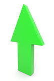 Freccia verde 3d in su. Fotografia Stock Libera da Diritti