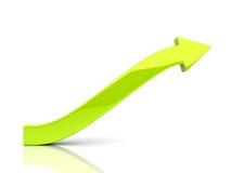 Freccia verde aumentante Fotografie Stock Libere da Diritti