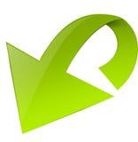 Freccia verde brillante Fotografie Stock