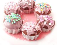 Frech eigengemaakte muffins Stock Afbeelding