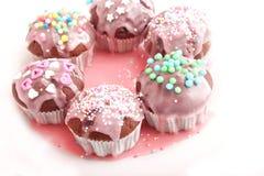 Frech eigengemaakte muffins Stock Afbeeldingen