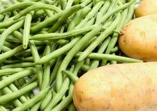 Frech-feijões e batatas fotos de stock royalty free