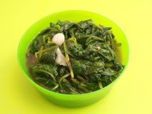 Frech spinach with garlic Stock Images