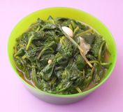 Frech spinach with garlic Royalty Free Stock Image