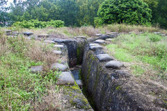 Frech trenches in Dien Bien Ph Royalty Free Stock Photography