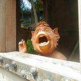 Freche Affeskulptur Lizenzfreies Stockfoto