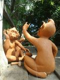 Freche Skulptur des Affen zwei Lizenzfreies Stockbild