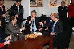 Freche und Bourquin des französischen Politikers Stockbilder