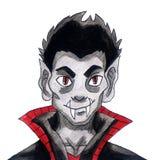 Frecher Aquarell-Vampir lizenzfreie stockfotos