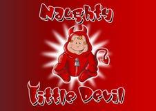 Frecher kleiner Teufel Stockbild