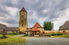 Freckleben城堡 免版税库存图片