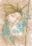 Девушка весны Стоковая Фотография RF