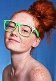 Freckled beauty Stock Photo