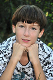 Freckled boy. Freckled teenage boy looking at the camera Stock Photos