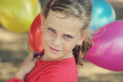 Freckled cute girl Stock Images