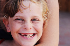 Freckled cute girl Royalty Free Stock Photos