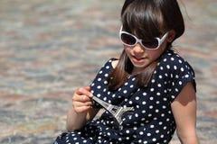 Freckled Frans Meisje stock afbeelding