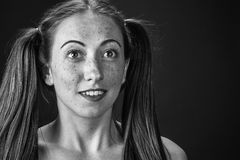 Freckled meisje Royalty-vrije Stock Foto