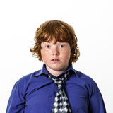 Freckled red-hair boy Royalty Free Stock Photo