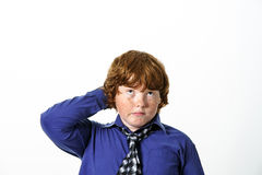 Freckled red-hair boy Stock Photos