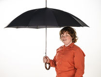 Freckled red-hair boy with umbrella. Royalty Free Stock Photos