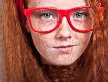 Freckled schoonheid Stock Afbeeldingen