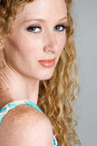 Freckles-Frau stockbilder