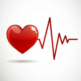 Frecuencia cardiaca Foto de archivo libre de regalías