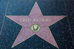 Fred Astaire Hollywood Star arkivbild