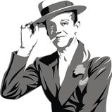 Fred Astaire - mijn originele karikatuur Royalty-vrije Stock Afbeelding