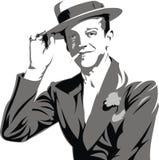 Fred Astaire - mój oryginalna karykatura Obraz Royalty Free