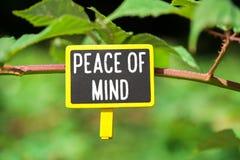 Fred av meningen ombord arkivfoton