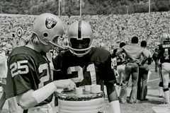 Fred Blitnikoff and Cliff Branch Oakland Raiders Stock Images