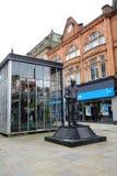 Fred Dibnah-Statue in Bolton Lizenzfreie Stockfotografie