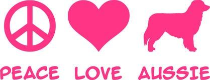 Fred förälskelse, australisk australisk herde vektor illustrationer