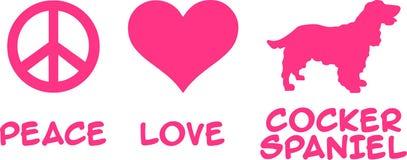 Fred förälskelse, Cocker Spaniel stock illustrationer