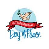 fred för international för dagduvajordklot stock illustrationer