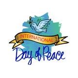 fred för international för dagduvajordklot vektor illustrationer