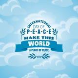 fred för international för dagduvajordklot Royaltyfri Bild