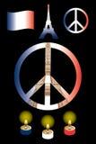 Fred för Paris stock illustrationer