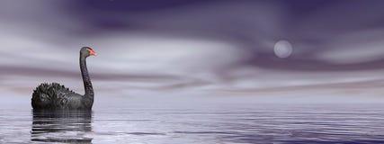 Fred för svart svan - 3D framför stock illustrationer